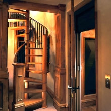 Deer Crest, Deer Valley - Spiral Stair and Elevator to 5th Level