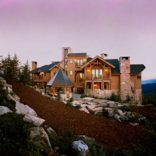 Deer Crest, Deer Valley - Uphill View of Rear Elevation